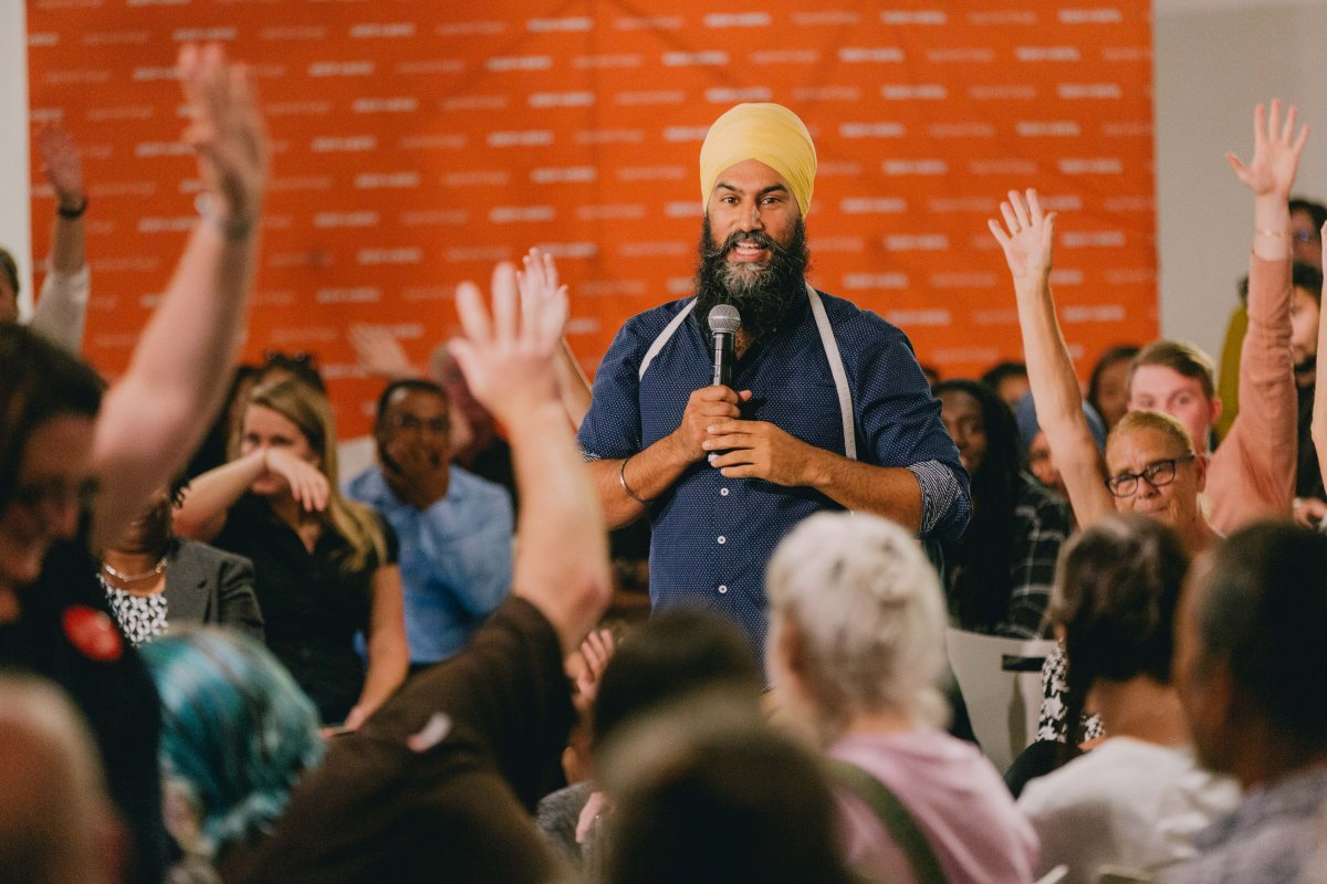 NDP Leader Jagmeet Singh hosted a health-care-focused town hall in London on Tuesday.