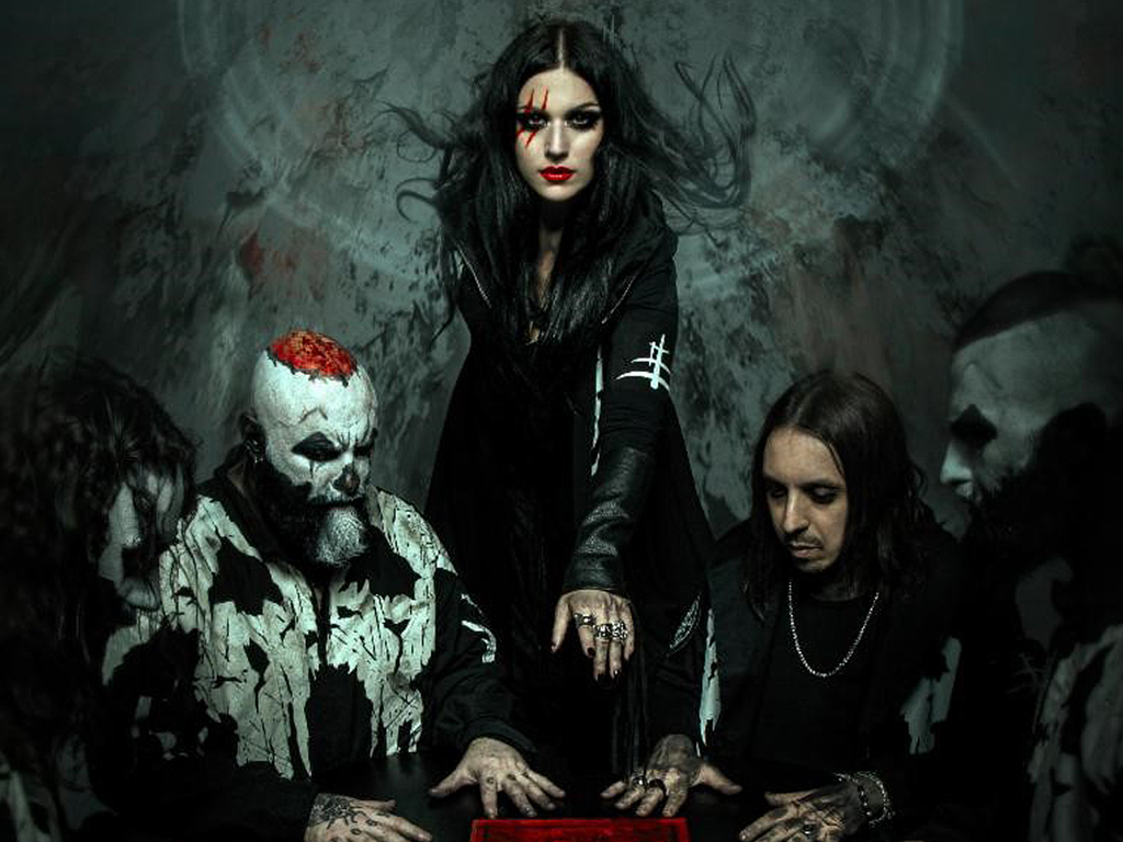 Lacuna Coil photoshoot for the 'Black Anima' album release, which takes place on Oct. 11, 2019.