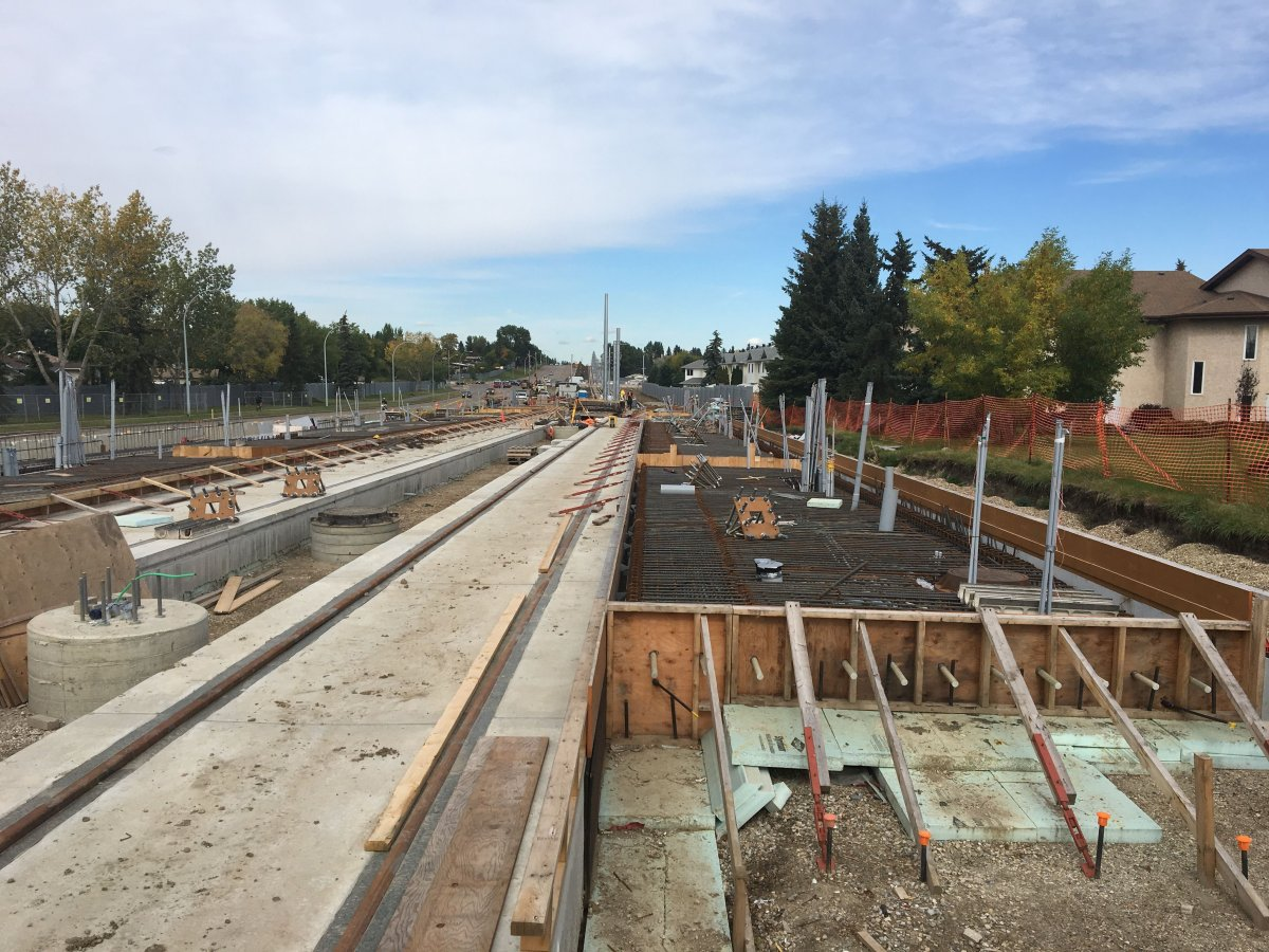 Construction on the Valley Line LRT in Edmonton Friday, Sept. 13, 2019.