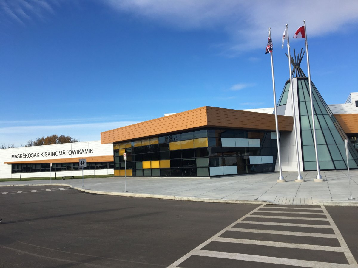 Maskêkosak Kiskinomâtowikamik school in Enoch Cree Nation.