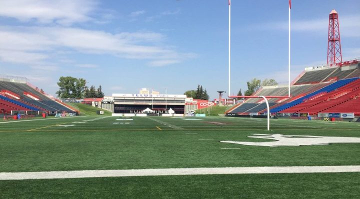 McMahon Stadium in Calgary is the site of a dirve-in theatre on July 24 and 25.