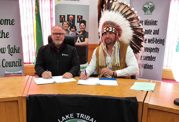 A formal agreement was signed between the SHA and MLTC during a ceremony in Meadow Lake, Sask., on Sept. 23.