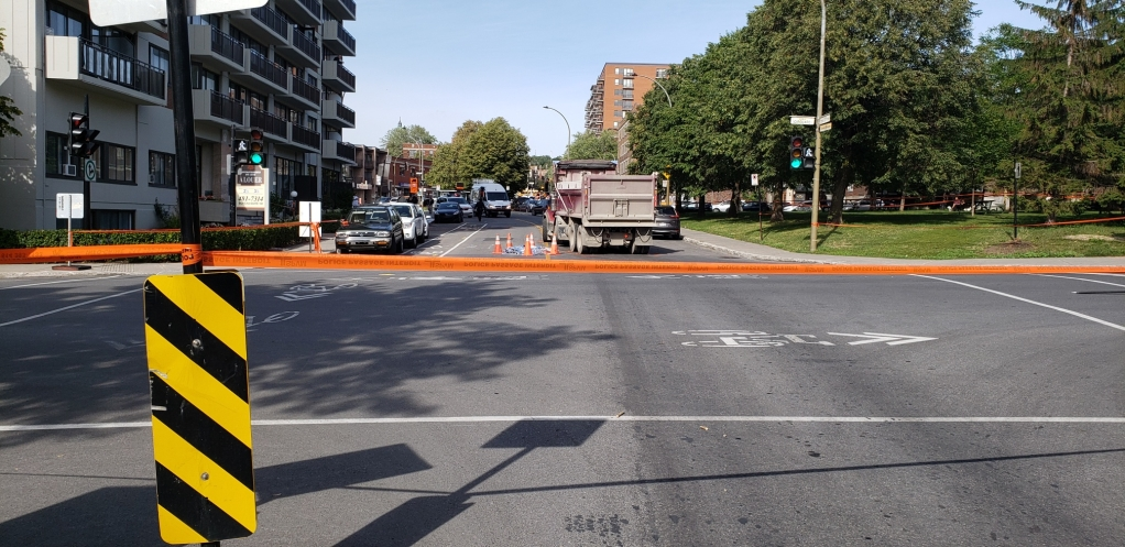 Police have cordoned off the area in NDG.