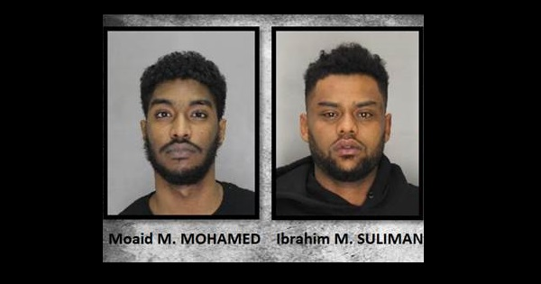 Niagara police say 23-year-old Moaid Mohamed and 25-year-old Ibrahim Muhamed Suliman are wanted on several charges.