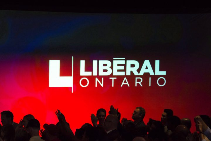 Liberal party supporters are pictured at the Liberal election party in the riding of Don Valley West in Toronto on Ontario election night, on Thursday, June 7, 2018.