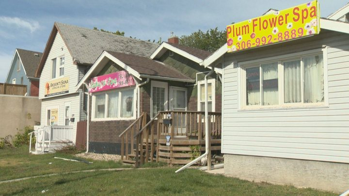 During Regina council's executive committee meeting Wednesday, municipal politicians debated licensing body rub parlours, like the ones pictured in this file photo.
