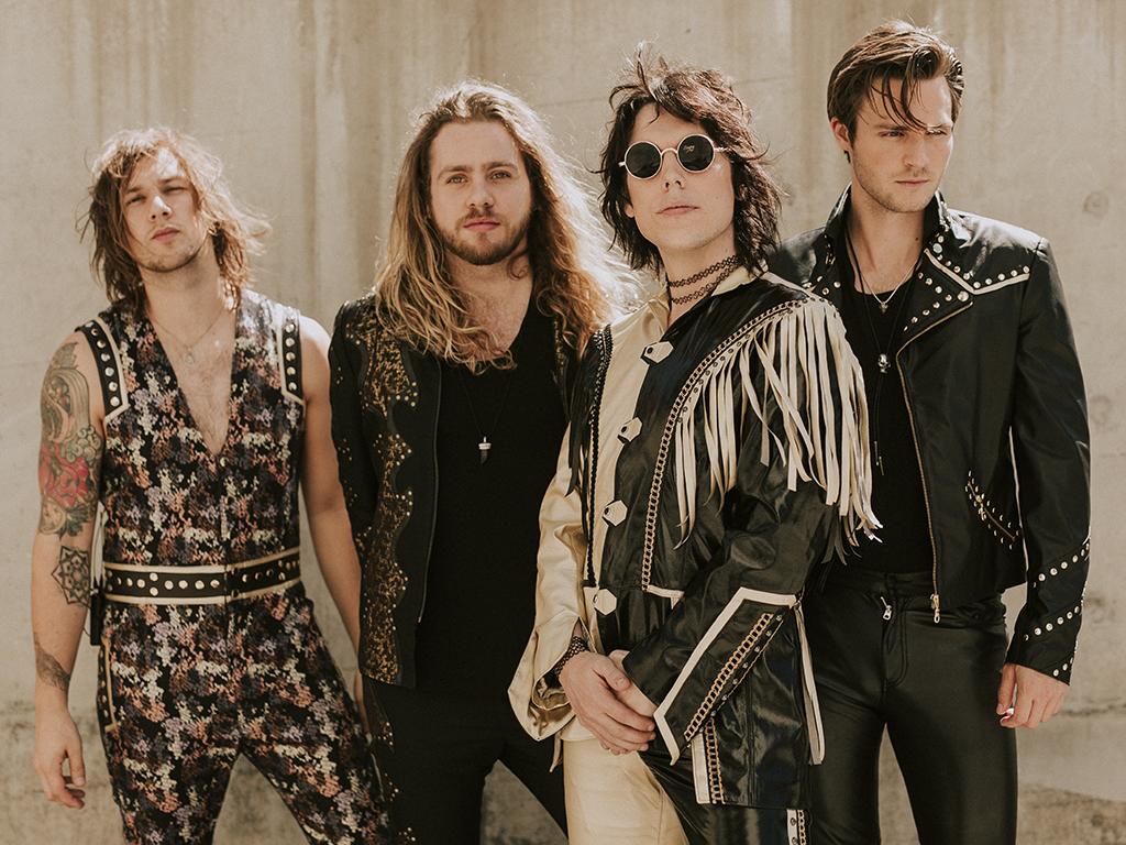 British rock outfit The Struts: (L-R) Gethin Davis, Adam Slack, Luke Spiller and Jed Elliott.