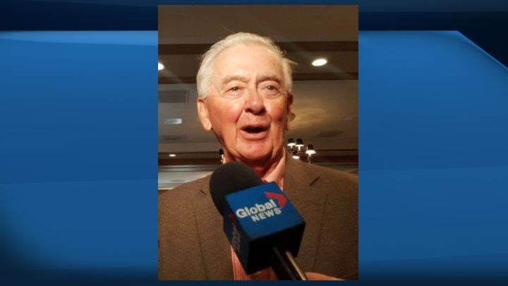 Preston Manning speaks at Canadian Club of Calgary on Sept. 25, 2019.
