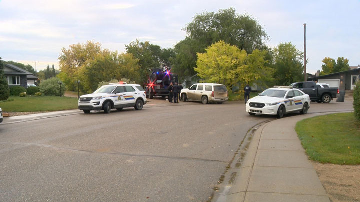 The potentially armed man had threatened to hurt himself and officers, Mounties said.