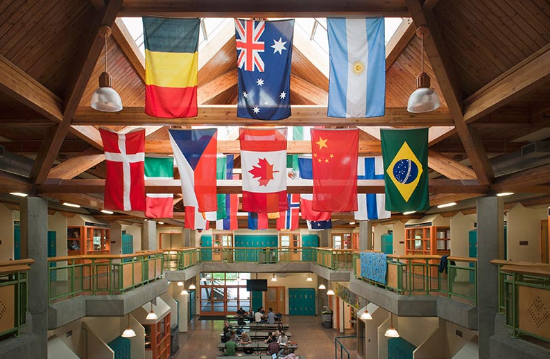 An interior shot of Rockridge Secondary School.
