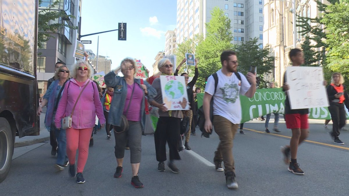 Seniors join in the Montreal climate strike on Sept. 27, 2019.