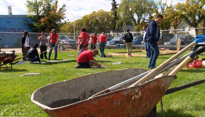 SIGA employees provided a facelift for the Princess Alexandra Community School play area in Saskatoon.