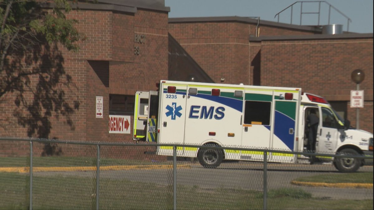 EMS said it received three 911 calls starting shortly after 8 a.m. from three different locations within blocks of each other.
