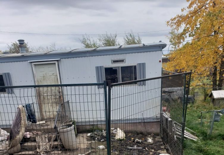 A property in Swan Hills, Alta., shows the location that the SPCA is investigating.