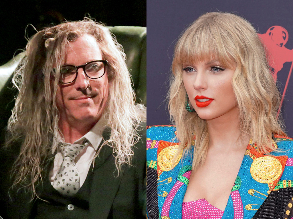 (L-R) Maynard James Keenan, frontman of Tool, and Taylor Swift.