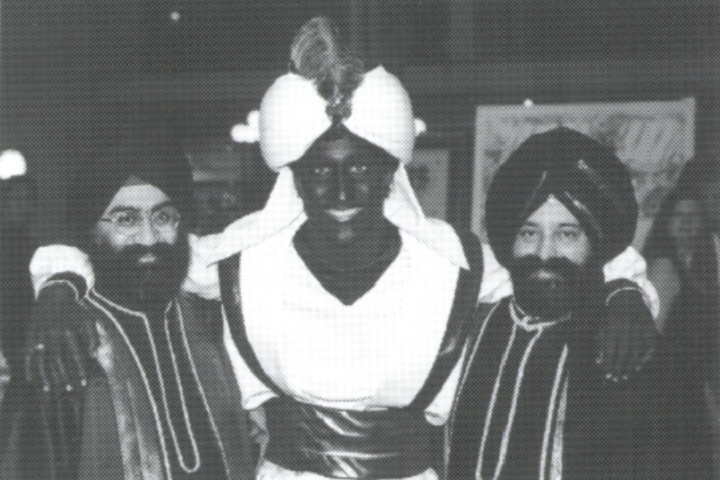 A photo of Justin Trudeau at West Point Grey Academy's Arabian Nights gala, as published in the school's newsletter dated April 2001.