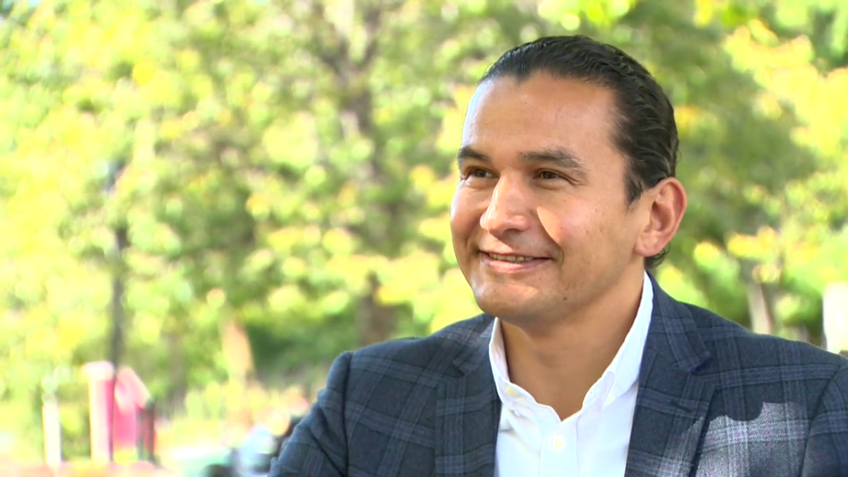 NDP leader Wab Kinew is vowing to keep the provincia's main health lab public if his party forms the next government.