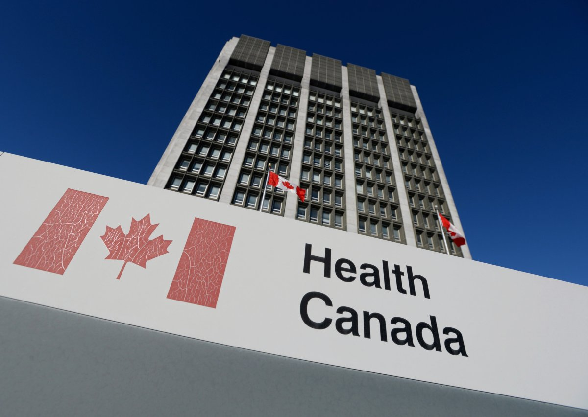 A sign is displayed in front of Health Canada headquarters in Ottawa on Friday, January 3, 2014.