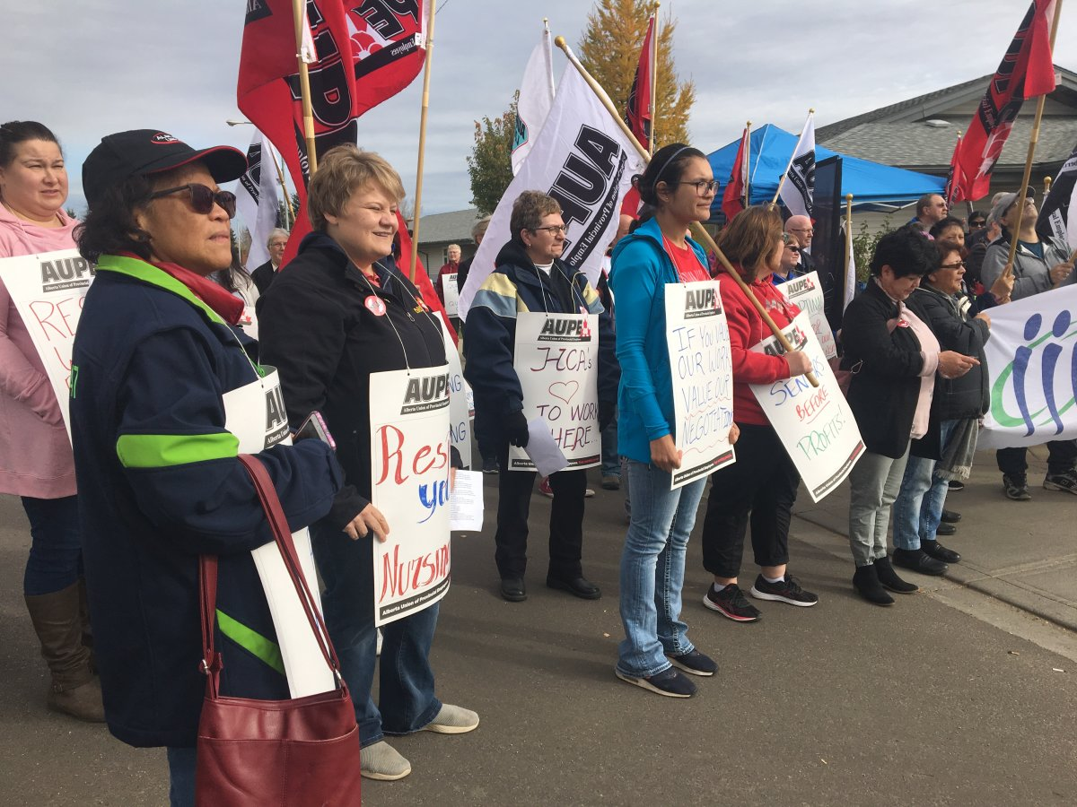 53 employees, AUPE members who are LPNs, health-care aides, cooks at Vegreville Century Park supportive living centre, will be out of work as of Nov. 1, 2019.