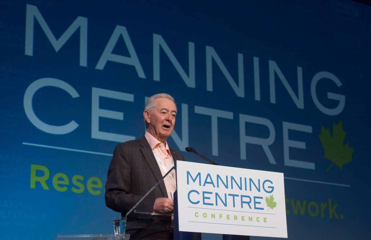 Preston Manning speaks at the opening of the Manning Centre conference in Ottawa on Friday, February 26, 2016.