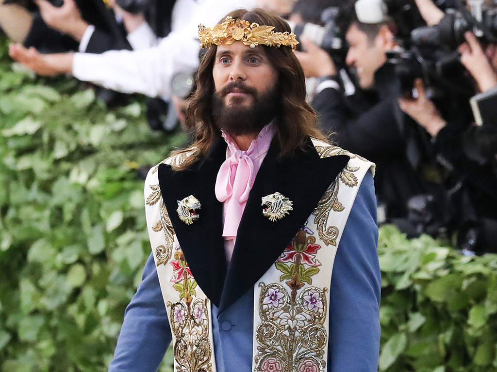 Jared Leto at arrivals for Heavenly Bodies: Fashion and the Catholic Imagination Met Gala Costume Institute Annual Benefit - Part 1, Metropolitan Museum of Art, in New York City on May 7, 2018.