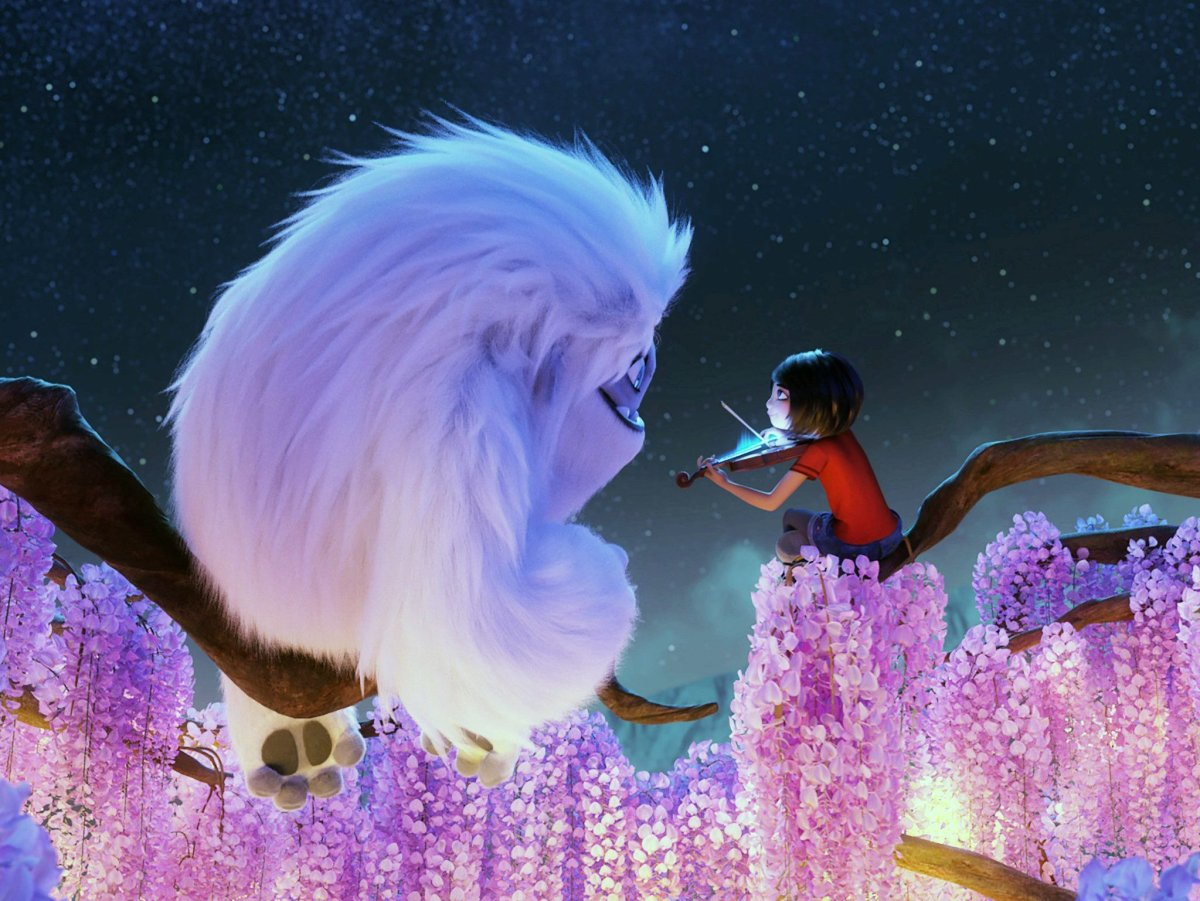Everest (voice: Joseph Izzo) and Yi (voice: Chloe Bennet) from 'Abominable.'.