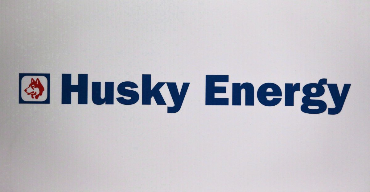 Husky Energy logo is shown at the company's annual meeting in Calgary, Alta., Friday, May 5, 2017. Husky Energy Inc. has agreed to sell its light oil refinery in Prince George, B.C., for $215 million cash plus adjustments to Tidewater Midstream and Infrastructure Ltd.