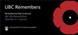 Continue reading: Annual Remembrance Day Ceremony at UBC