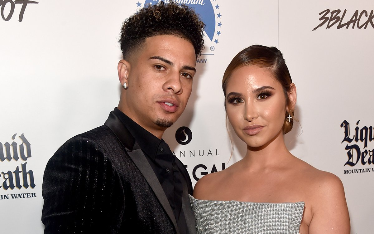Austin McBroom (L) and Catherine Paiz attend Thirst Project 10th Annual Thirst Gala at The Beverly Hilton Hotel on Sept. 28, 2019, in Beverly Hills, Calif.