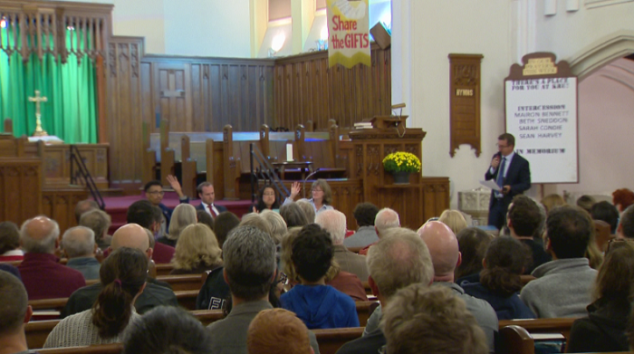 Beaches-East York all-candidates meeting at Kingston Road United Church.