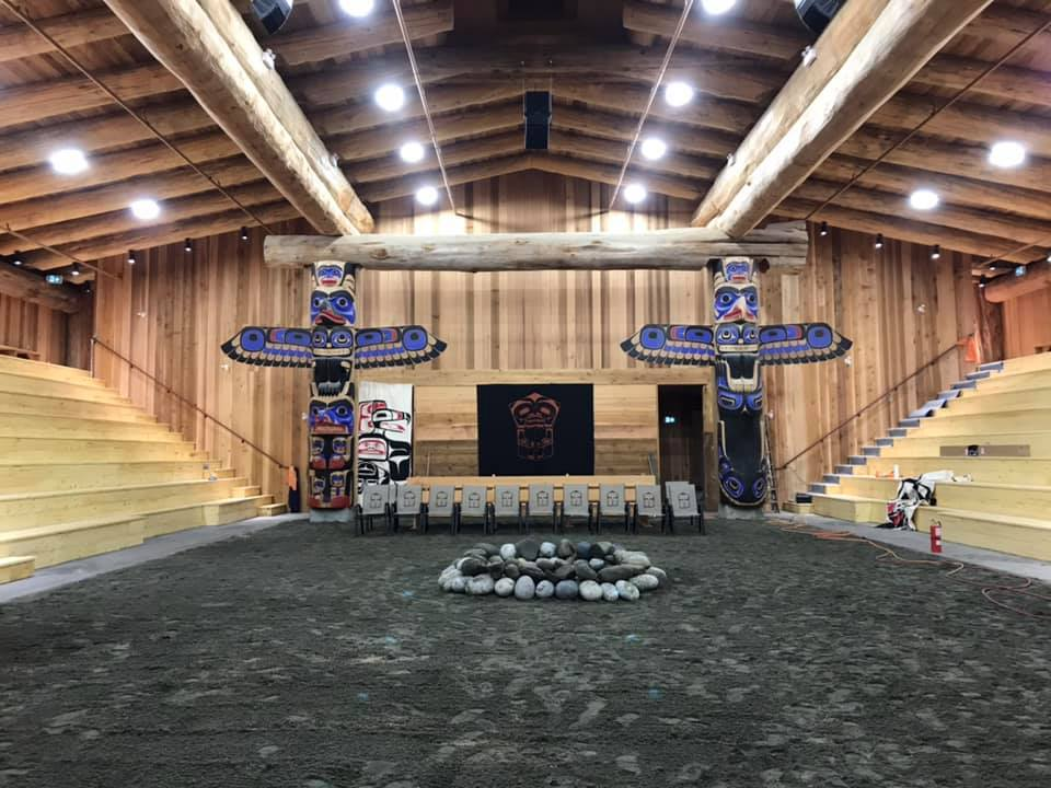 A view inside the Heiltsuk Nation Big House - the first one built in 120 years on the First Nation's territory in Bella Bella - on Oct. 12, 2019.