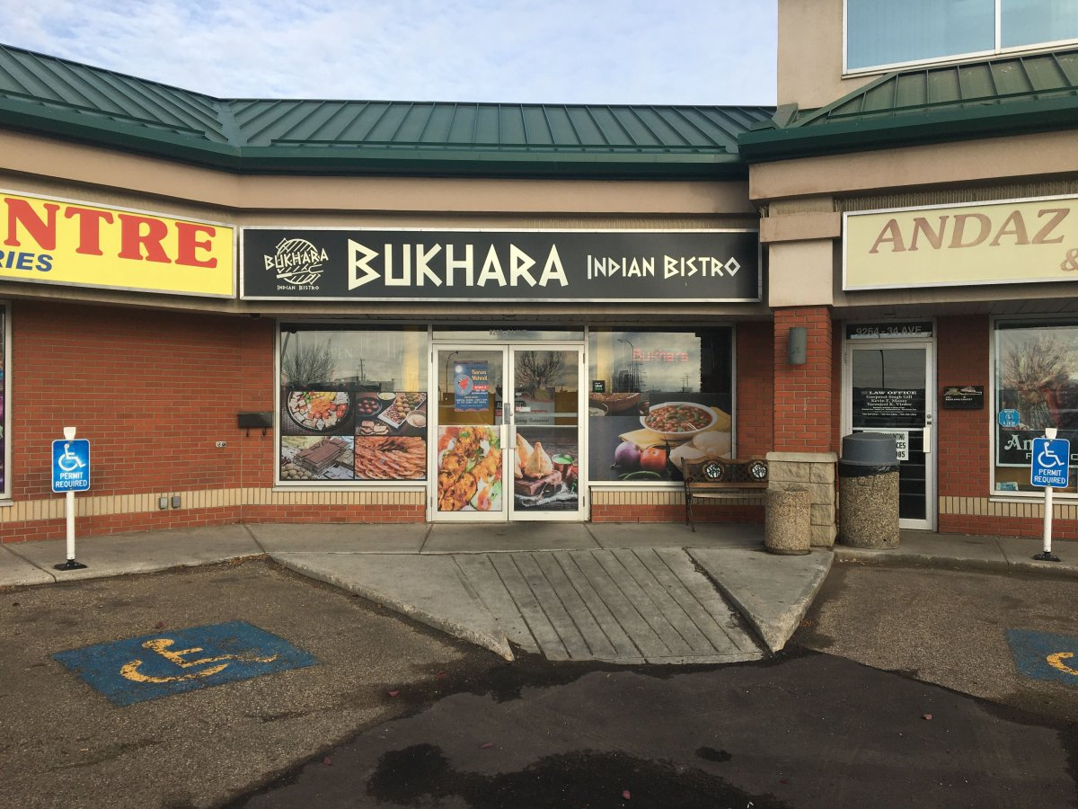 Bukhara Indian Bistro was ordered on Oct. 3, 2019 to shut down after a number of violations were found by an Alberta Health Services inspector. The restaurant was open again by Tuesday, Oct. 15, 2019.