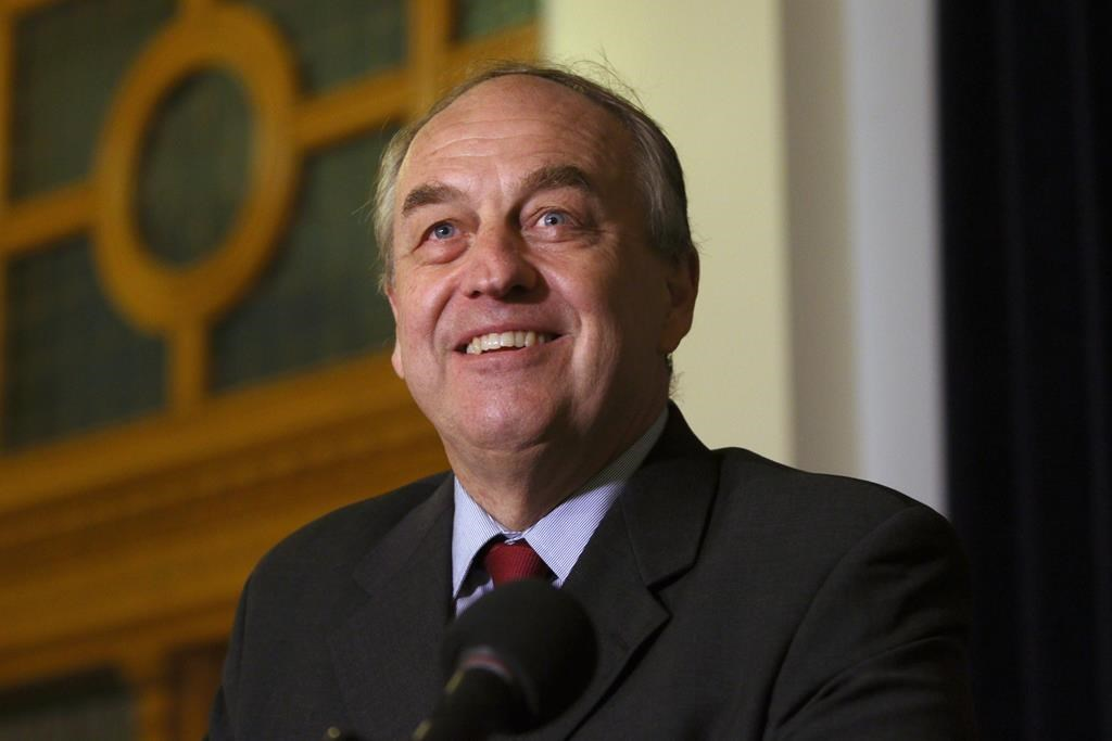 B.C. Green Party leader Andrew Weaver announces that he won't be running as leader in the next provincial election during a press conference at the Hall of Honour at B.C. Legislature in Victoria, B.C., on Monday, October 7, 2019.