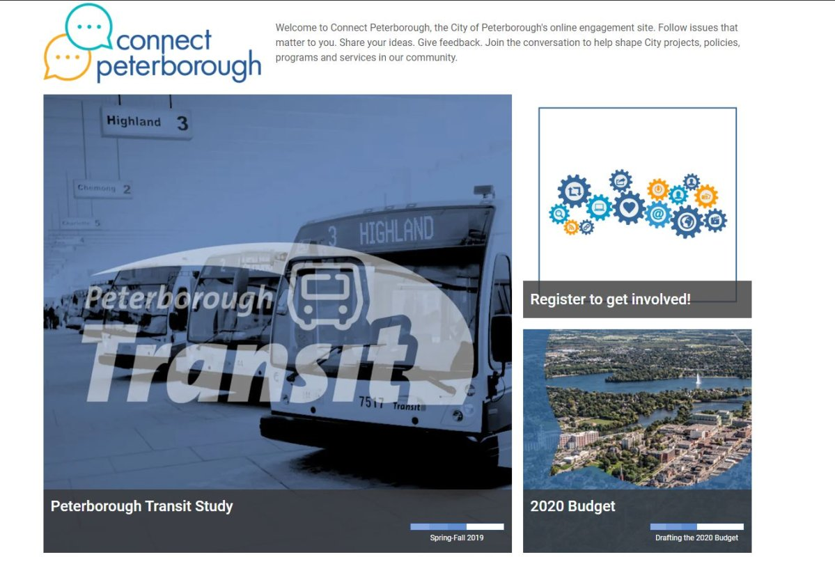 A screenshot of the new Connect Peterborough website.
