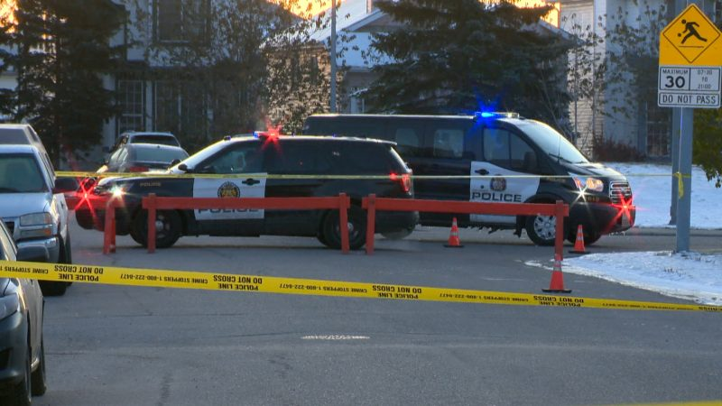 Calgary police investigate after shots were fired in Monterey Park on Oct. 10, 2019.