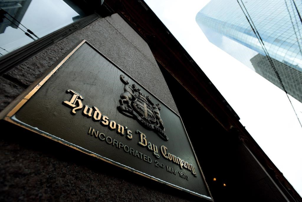 A photograph the downtown Toronto flagship Hudson Bay Company store in Toronto on Monday, Jan. 27, 2014.