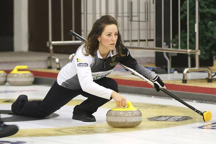 Curler Aly Jenkins is seen in this undated handout photo.