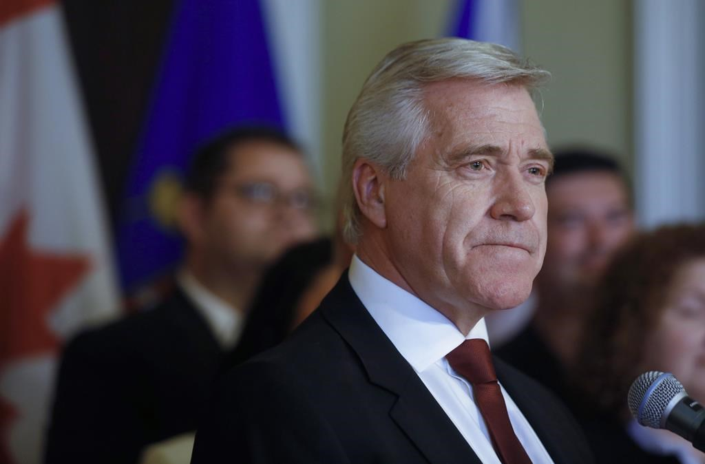 Newfoundland and Labrador Premier Dwight Ball at the swearing-in of his cabinet of the minority Liberal government, at Government House in St. John's on Thursday, May 30, 2019.
