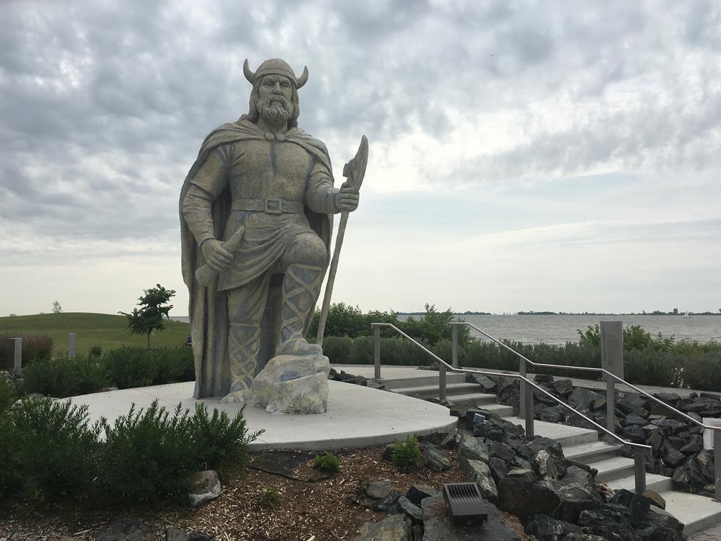 The Viking statue in Gimli, Man.