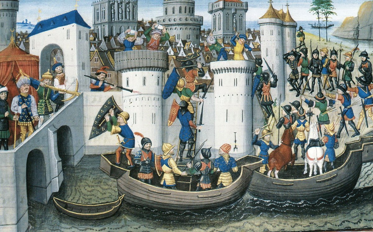 Conquest of the Orthodox city of Constantinople by the crusaders in 1204 .