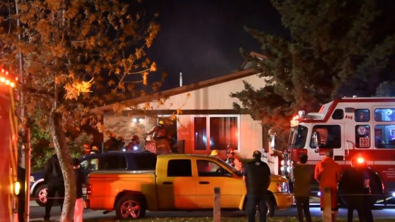 Firefighters respond to a kitchen fire in a duplex in Dover on Sunday, Oct. 6, 2019.
