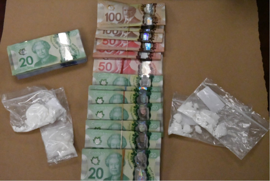 A photo of the items seized during a drug bust on Thursday in west London.