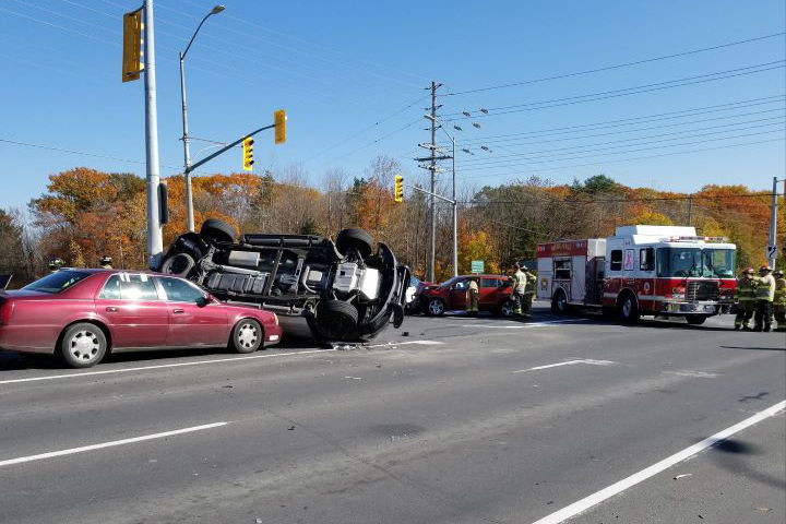 The crash occurred at the intersection of County Road 93 and Yonge Street in Midland.