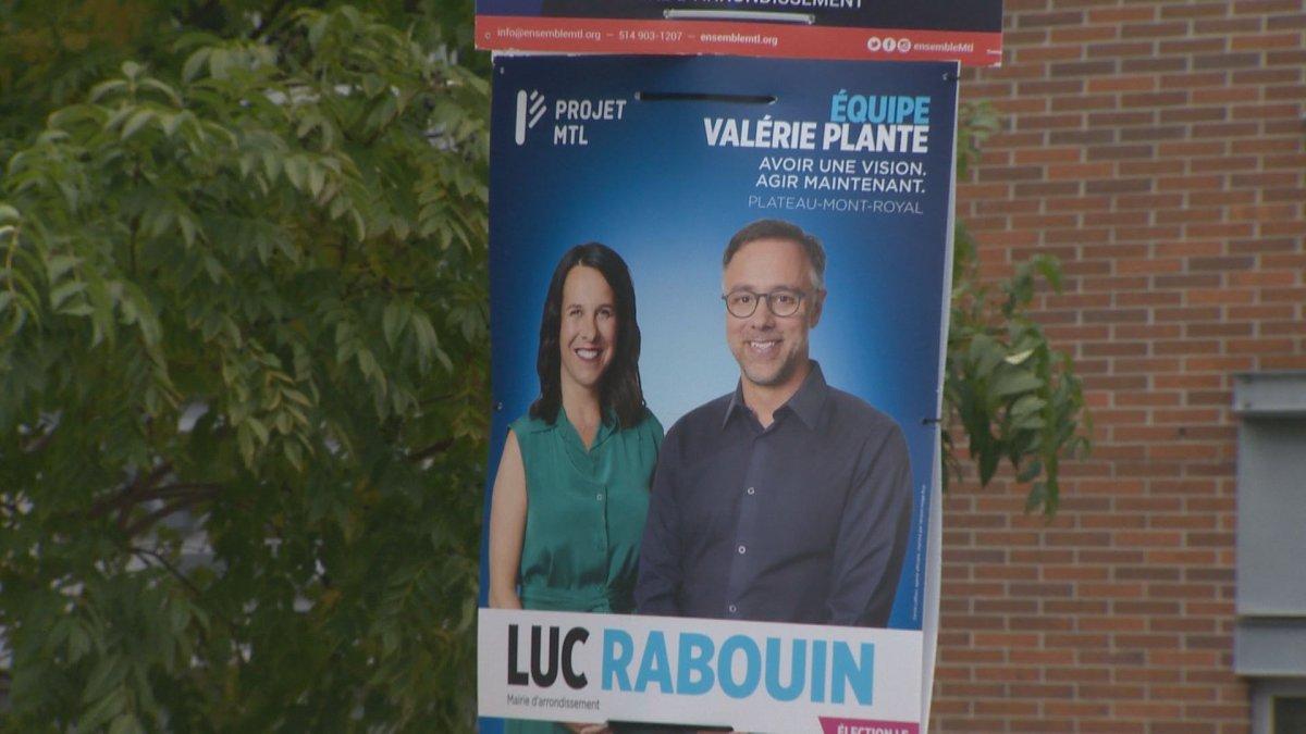 Projet Montréal's Luc Rabouin has been elected the borough mayor of Plateau-Mont-Royal.
