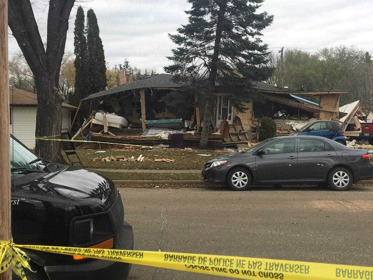 A 63-year-old woman was killed when a home on Queens Ave East in Brandon exploded Tuesday night.
