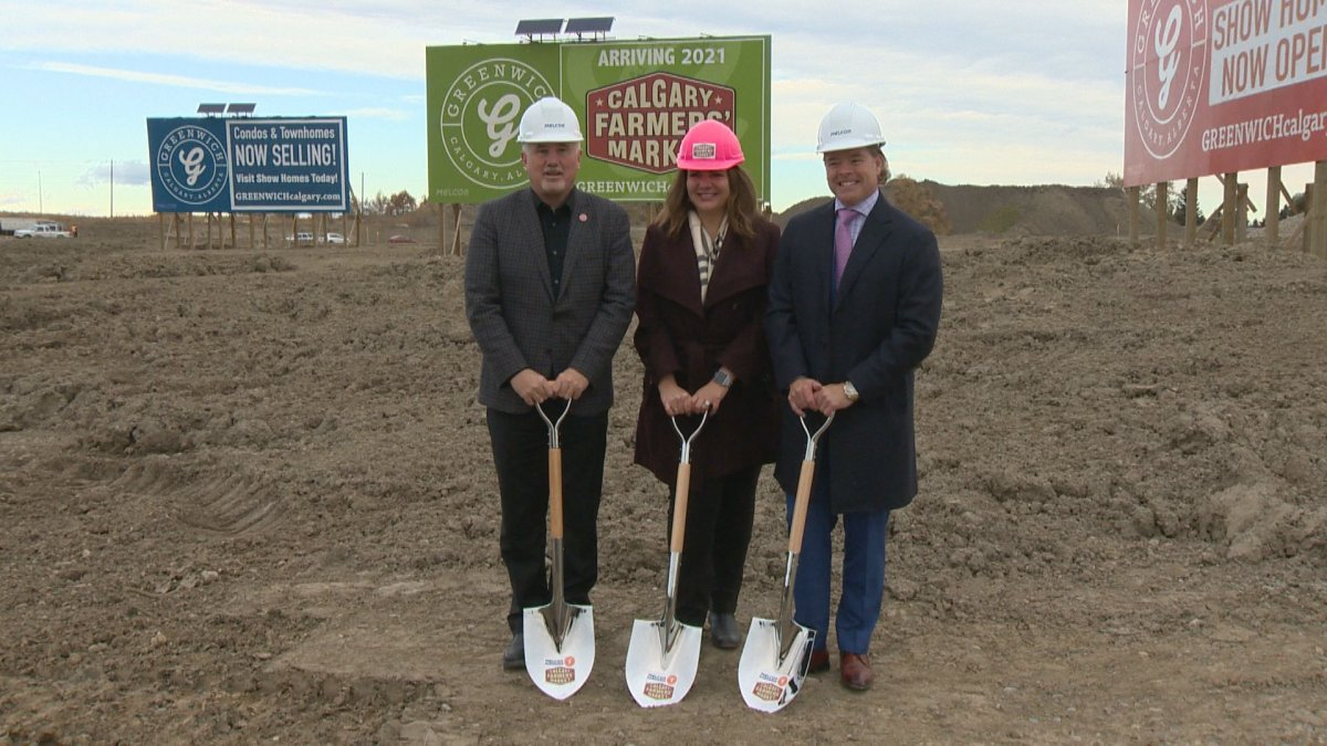 Official groundbreaking at the second Calgary Farmers' Market.