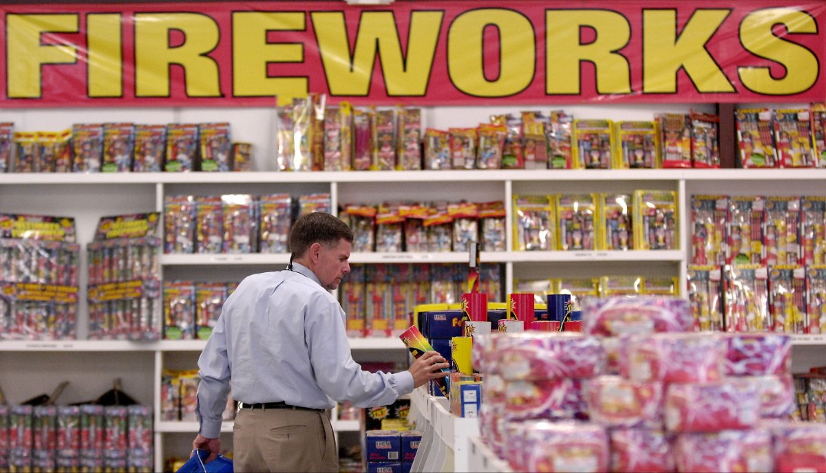 Henry Carrouth of Graham, N.C., shops for fireworks at the Fireworks Giant store near Interstate-20 in North Augusta, S.C., on Monday, June 25, 2007.