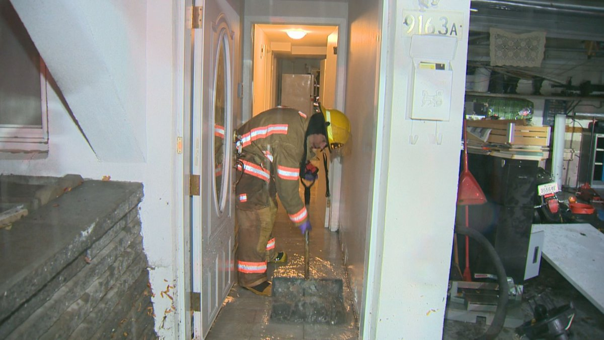 Firefighters called to Saint-Leonard residences during heavy rains on Oct. 1.