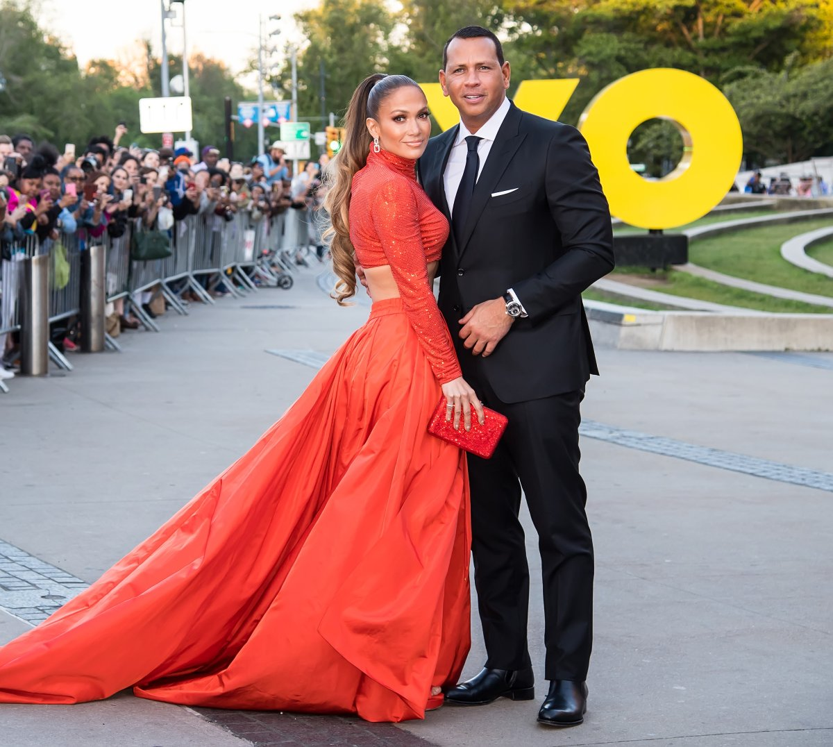 Actress Jennifer Lopez and Alex Rodriguez are seen arriving to the 2019 CFDA Fashion Awards on June 3, 2019 in the Brooklyn borough of New York City.