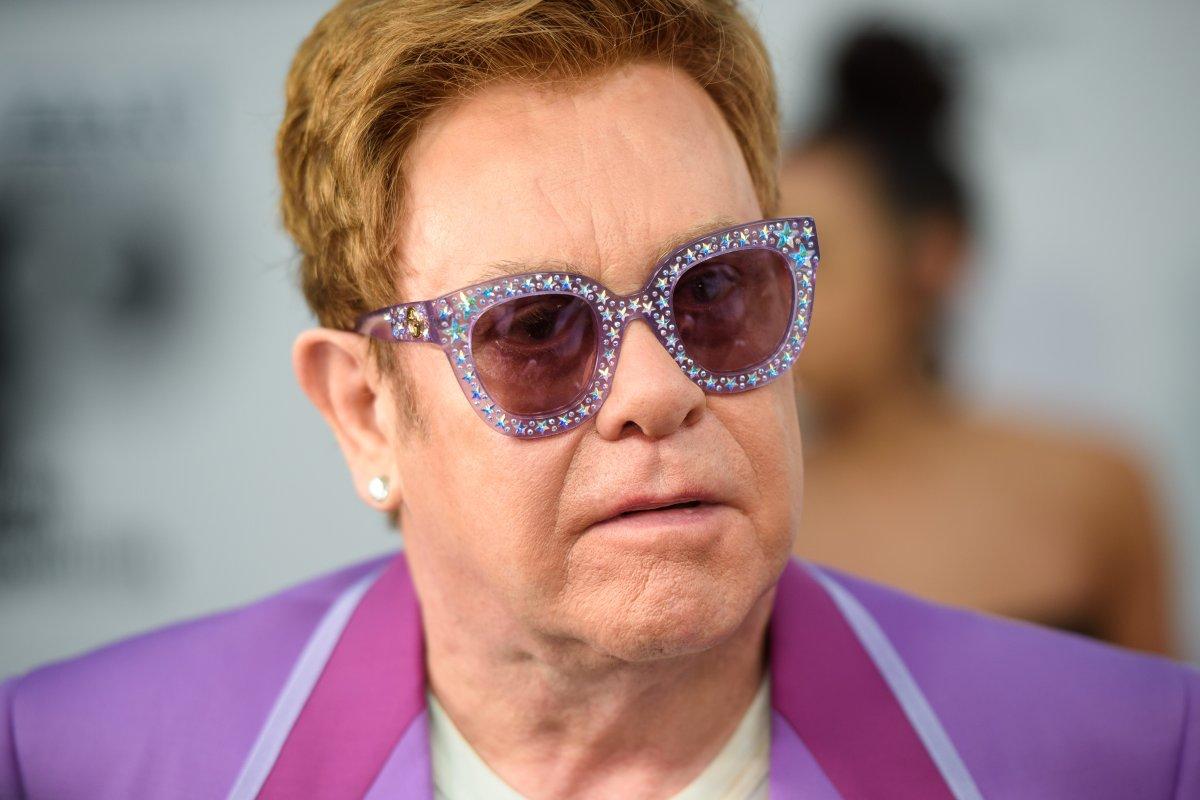Elton John attending the Elton John Aids Foundation Midsummer Party at Jean Pigozzi's Villa Dorane, Antibes, France.